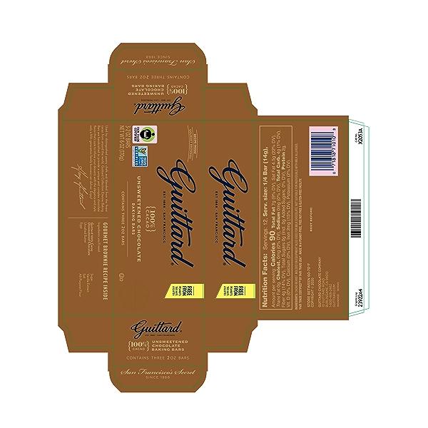 Unsweetened Chocolate Baking Bars, 6 oz 2