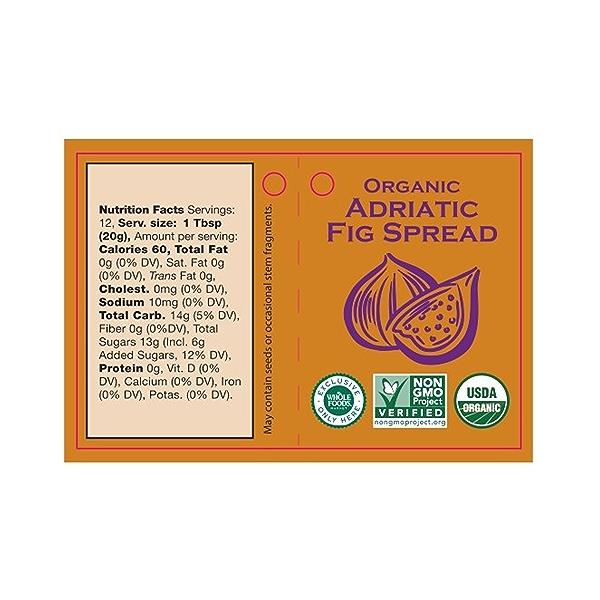 Organic Adraitic Fig Spread, 8.5 oz 3