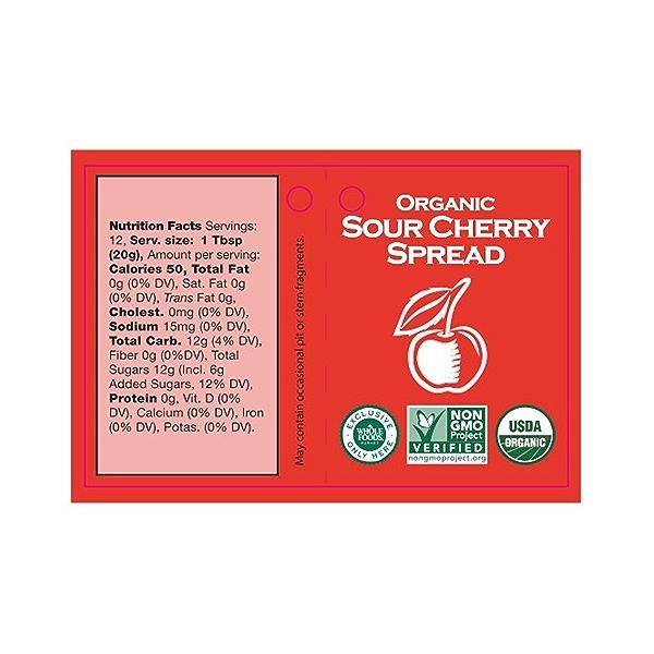 Organic Sour Cherry Spread, 8.5 oz 3