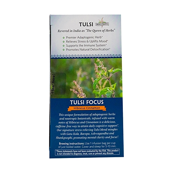 Organic Hibiscus Cinnamon Tulsi Focus Tea, 1.27 oz 4