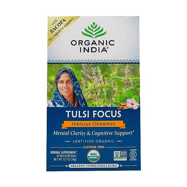 Organic Hibiscus Cinnamon Tulsi Focus Tea, 1.27 oz 1