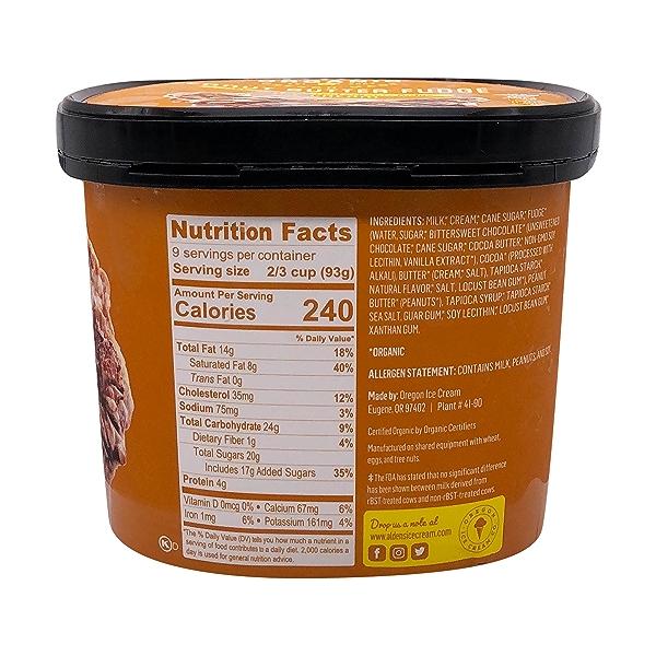 Organic Peanut Butter Fudge Ice Cream, 1.5 qt 2