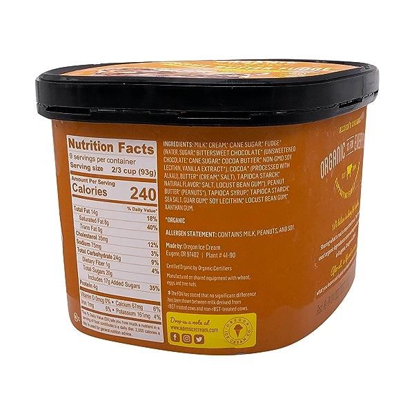 Organic Peanut Butter Fudge Ice Cream, 1.5 qt 3