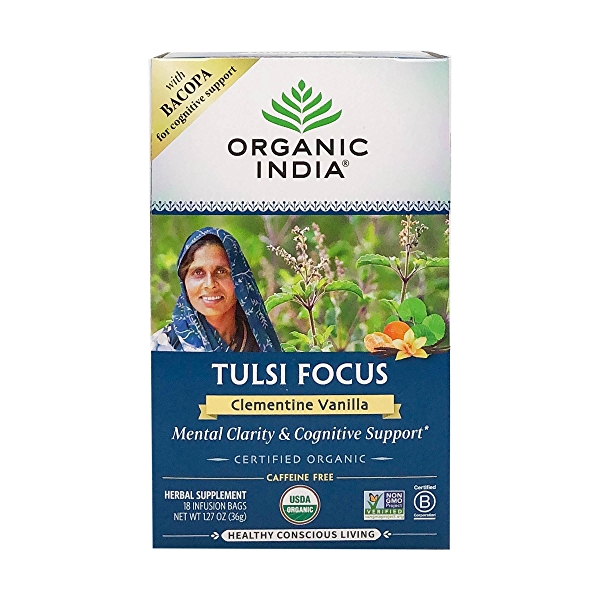 Organic Clementine Vanilla Tulsi Focus Tea, 1.27 oz 1