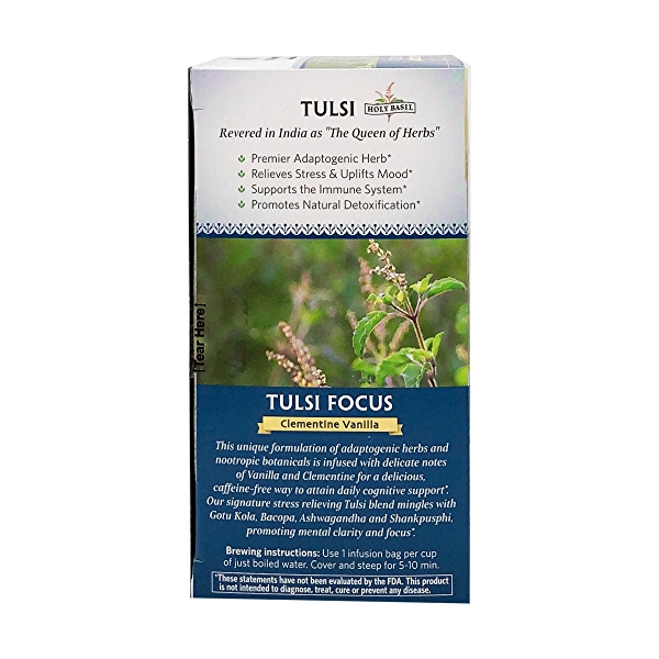 Organic Clementine Vanilla Tulsi Focus Tea, 1.27 oz 4