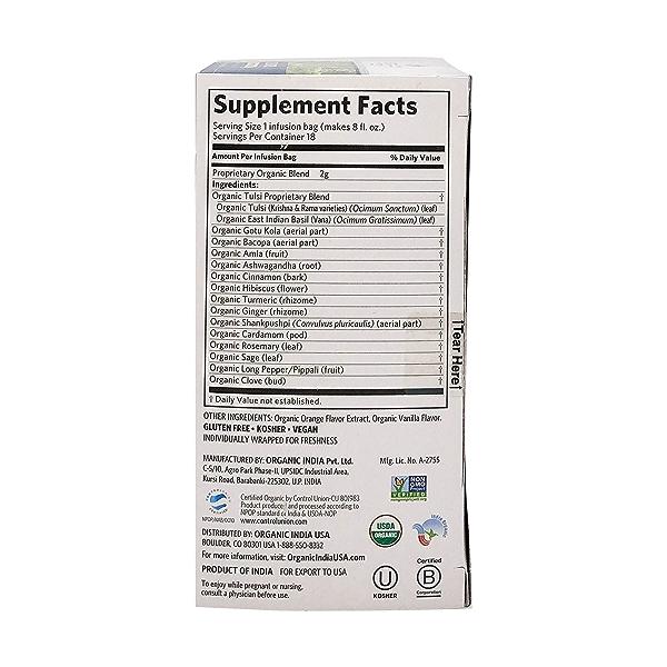 Organic Clementine Vanilla Tulsi Focus Tea, 1.27 oz 2