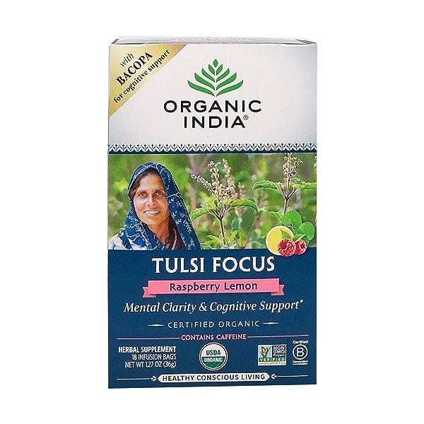 Organic Raspberry Lemon Tulsi Focus Tea, 1.27 oz 1