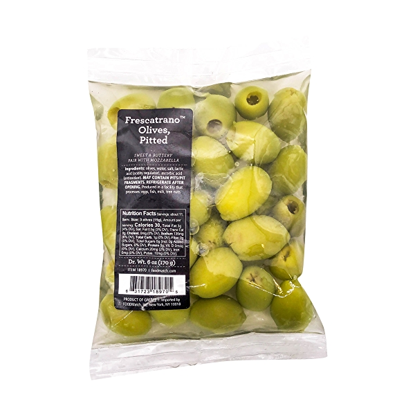 Pitted Frescatrano Olives, 6 oz 1
