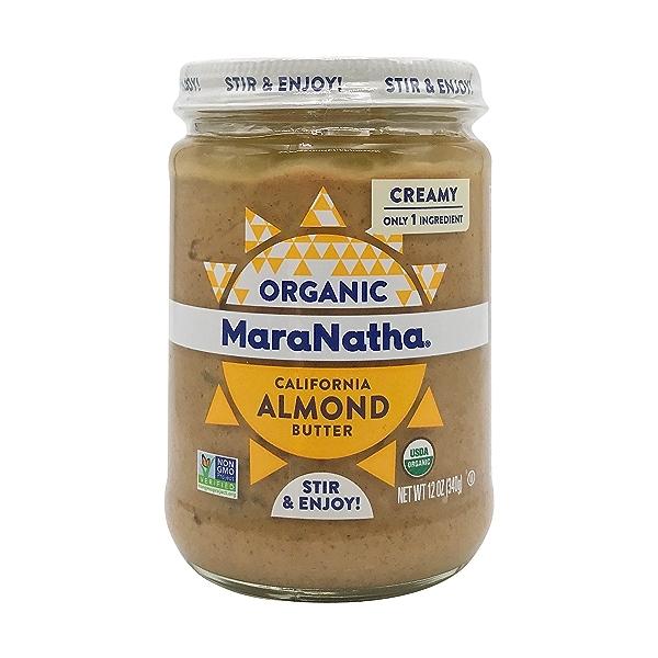 Organic Creamy Roasted Almond Butter, 12 oz 1