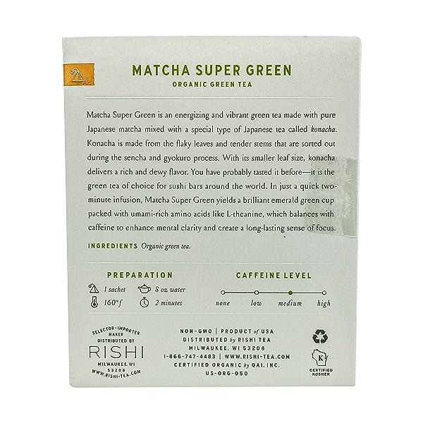Organic Matcha Super Green Tea, 1.42 oz 2