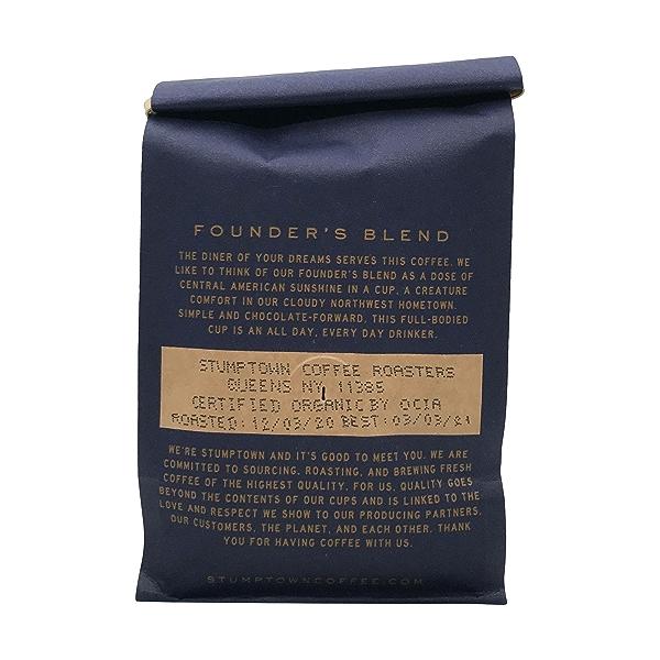 Organic Founders Blend Whole Bean Coffee, 12 oz 3