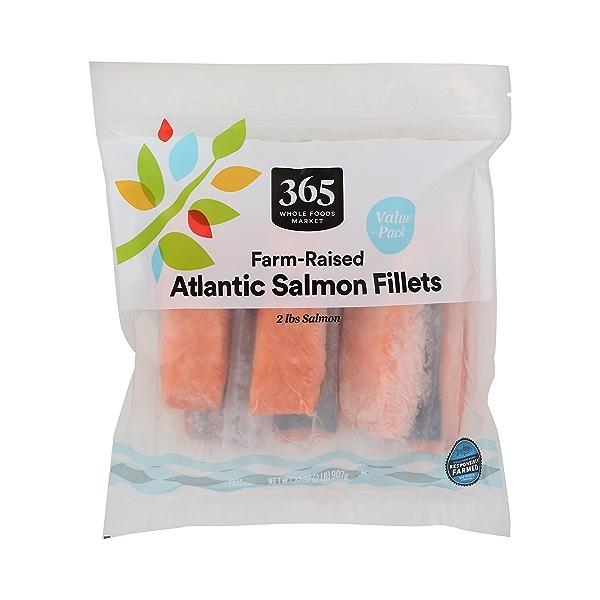Frozen Farm-Raised Seafood Value Pack, Atlantic Salmon Fillets 1
