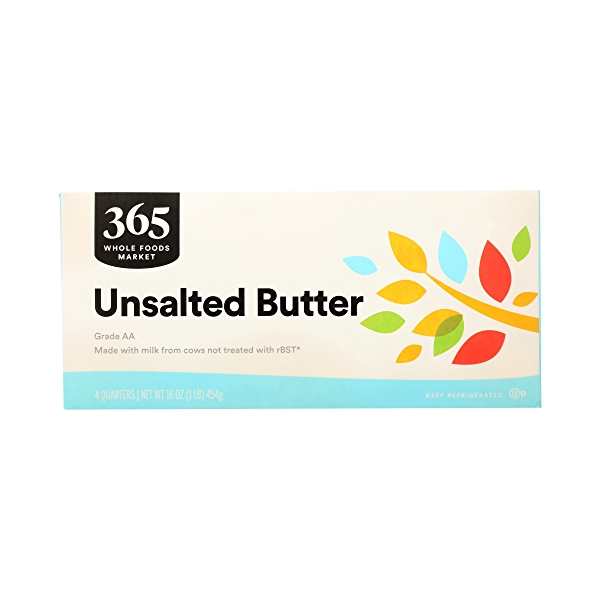 Butter, Unsalted 4 Quarters, 16 oz 1