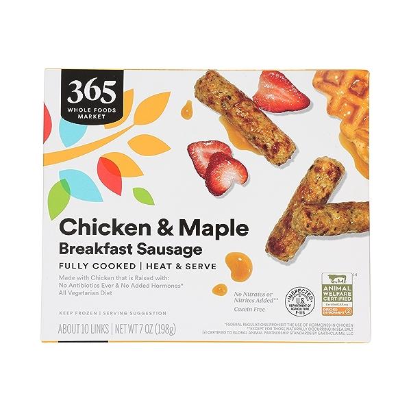 Frozen Breakfast Sausage, Chicken & Maple 1