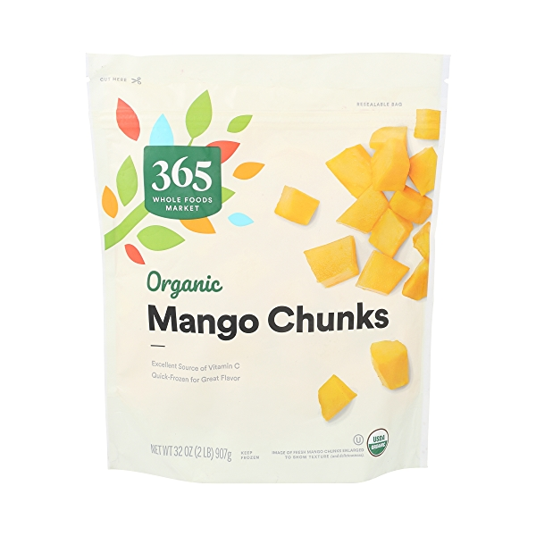 Frozen Organic Fruit, Mango - Chunks 1
