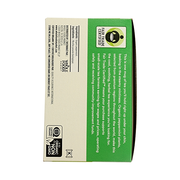 Organic Herbel Tea - Caffeine Free, Peppermint (40 Tea Bags), 1.8 oz 2