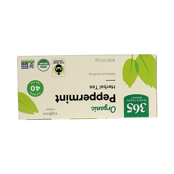 Organic Herbel Tea - Caffeine Free, Peppermint (40 Tea Bags), 1.8 oz 3