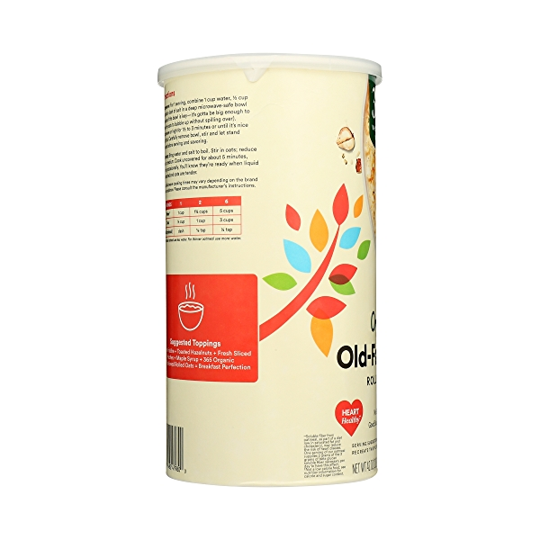Organic Hot Cereal, Old-Fashioned Rolled Oats, 42 oz 2