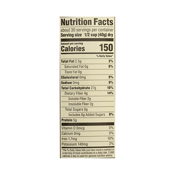 Organic Hot Cereal, Old-Fashioned Rolled Oats, 42 oz 7