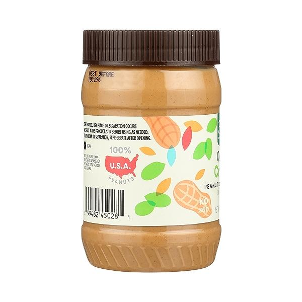 Organic Peanut Butter, Creamy - No Sugar Added, 16 oz 2