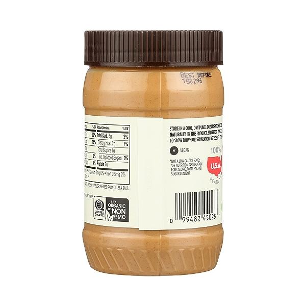 Organic Peanut Butter, Creamy - No Sugar Added, 16 oz 4