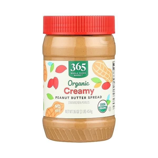 Organic Peanut Butter, Creamy, 16 oz 1