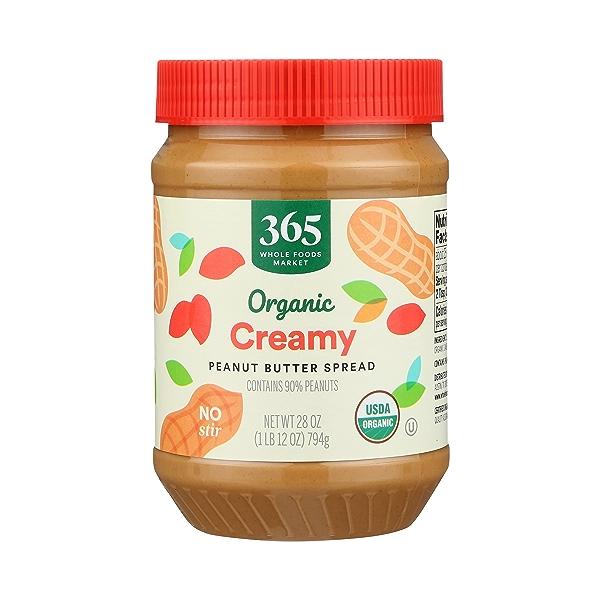 Organic Peanut Butter, Creamy, 28 oz 1