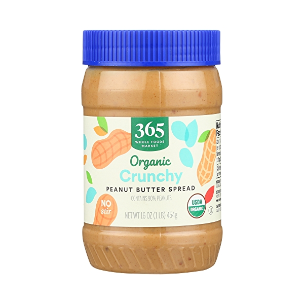 Organic Peanut Butter, Crunchy, 16 oz 1
