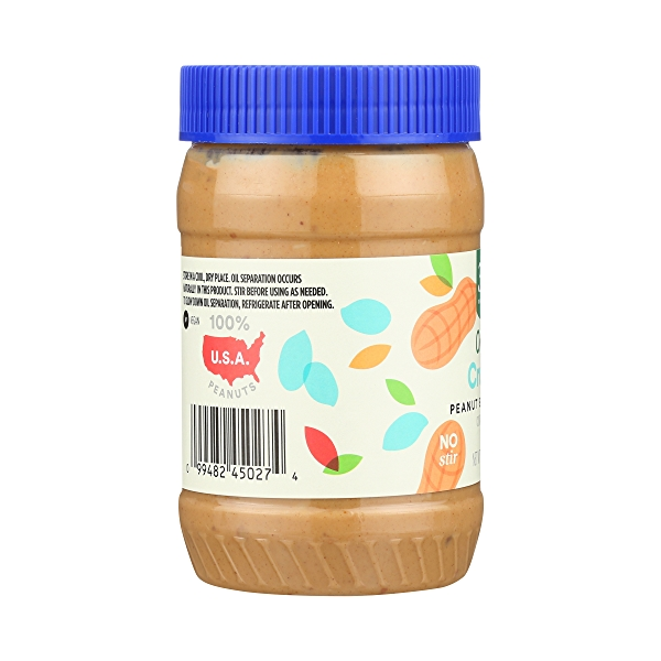 Organic Peanut Butter, Crunchy, 16 oz 2