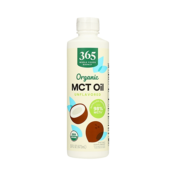 Organic Supplement - Sports Nutrition, MCT Oil - Unflavored, 16 fl oz 1