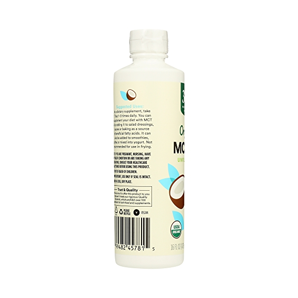 Organic Supplement - Sports Nutrition, MCT Oil - Unflavored, 16 fl oz 2