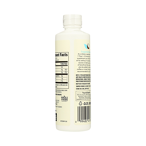 Organic Supplement - Sports Nutrition, MCT Oil - Unflavored, 16 fl oz 4