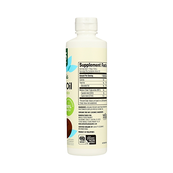 Organic Supplement - Sports Nutrition, MCT Oil - Unflavored, 16 fl oz 5