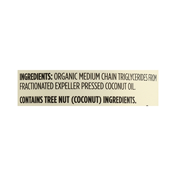 Organic Supplement - Sports Nutrition, MCT Oil - Unflavored, 16 fl oz 8
