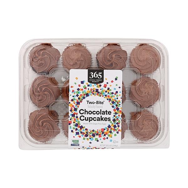 Ready-To-Eat Two-Bite Cupcakes, Chocolate, 10.5 oz 1