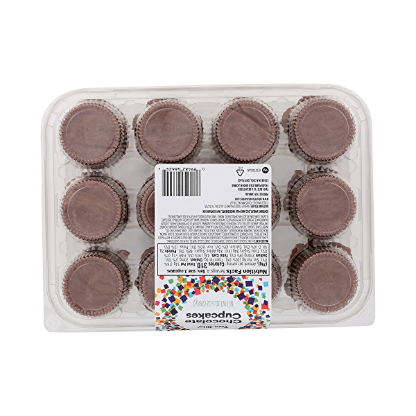 Ready-To-Eat Two-Bite Cupcakes, Chocolate, 10.5 oz 4