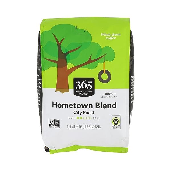 Hometown Blend City Roast Whole Bean Coffee, 24 oz 1