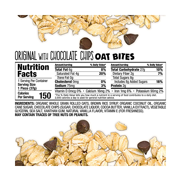 Oat Bites, Original with Chocolate Chips 5pk, 1 each 2