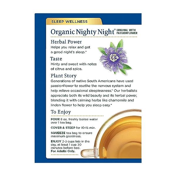 Organic Nighty Night Tea, 0.85 oz 3