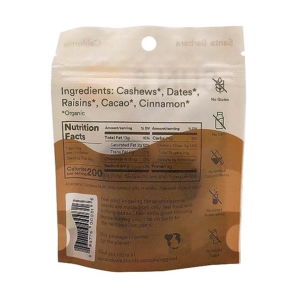 Organic Cacao Fruit & Nut Bites, 1.6 oz 2