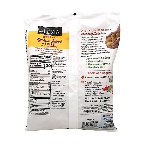 Organic Yukon Select Fries, 15 oz 2