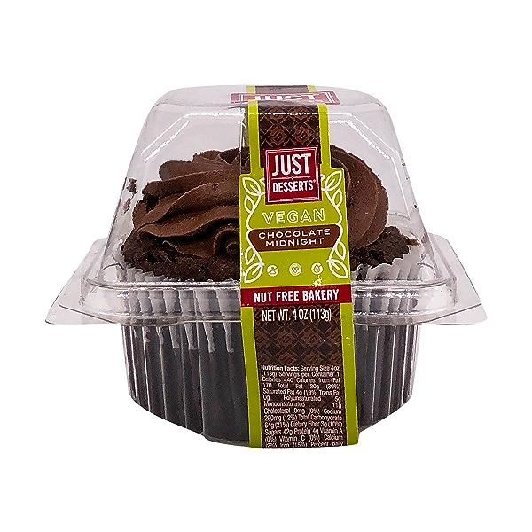 Vegan Midnight Chocolate Cupcake, 4 oz 1
