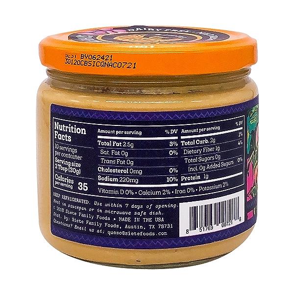 Mild Nacho Cashew Cheese Dip, 10.8 oz 2