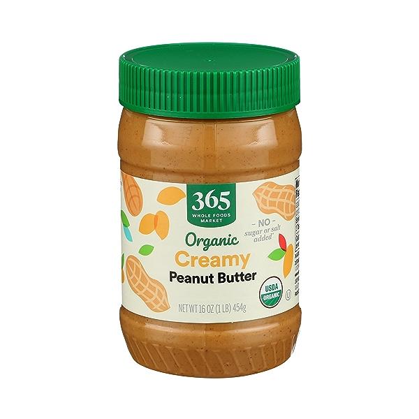 Organic Creamy Peanut Butter (Unsweetened & No Salt), 16 oz 2