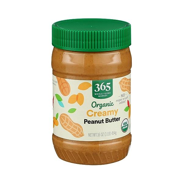 Organic Creamy Peanut Butter (Unsweetened & No Salt), 16 oz 3