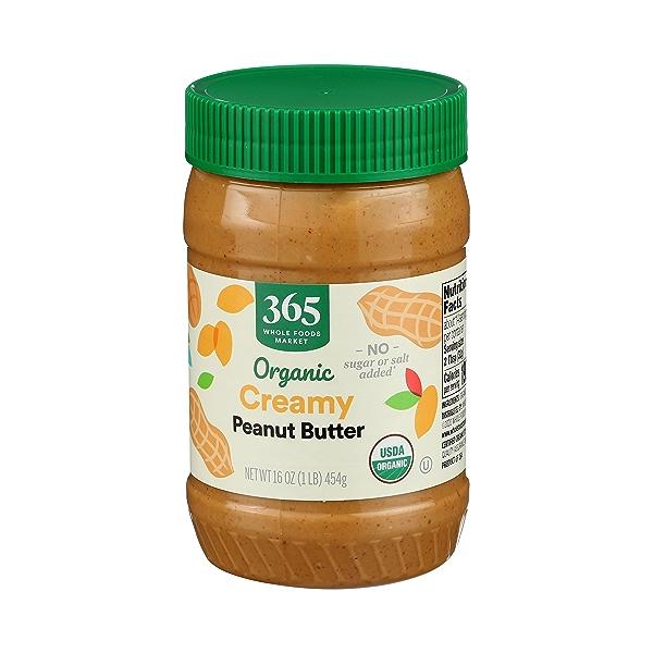Organic Creamy Peanut Butter (Unsweetened & No Salt), 16 oz 4