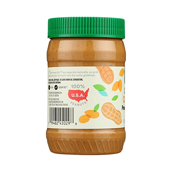 Organic Creamy Peanut Butter (Unsweetened & No Salt), 16 oz 5