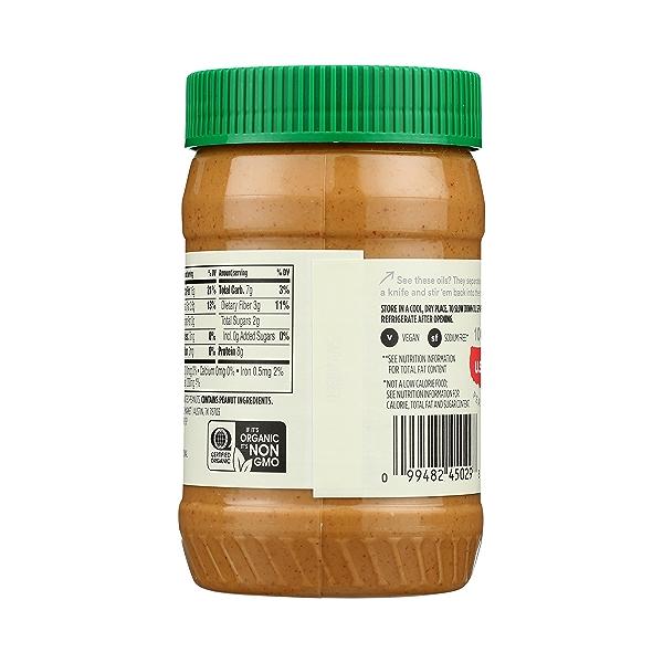 Organic Creamy Peanut Butter (Unsweetened & No Salt), 16 oz 7