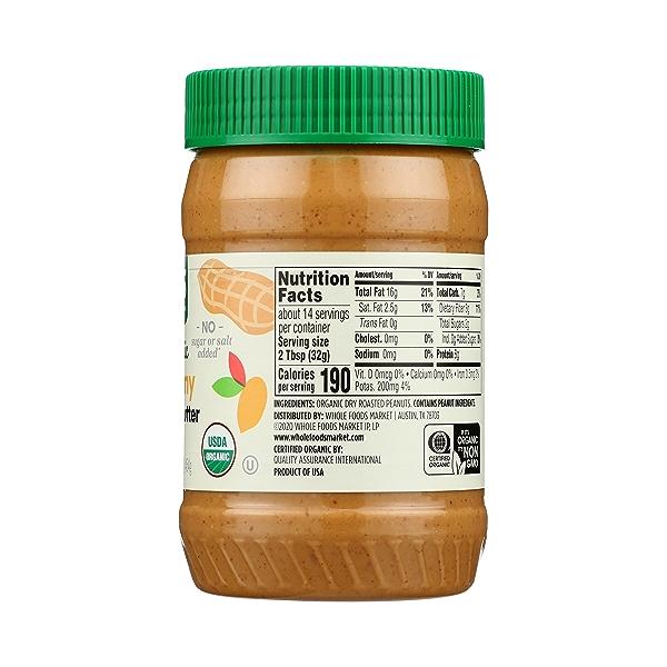 Organic Creamy Peanut Butter (Unsweetened & No Salt), 16 oz 8