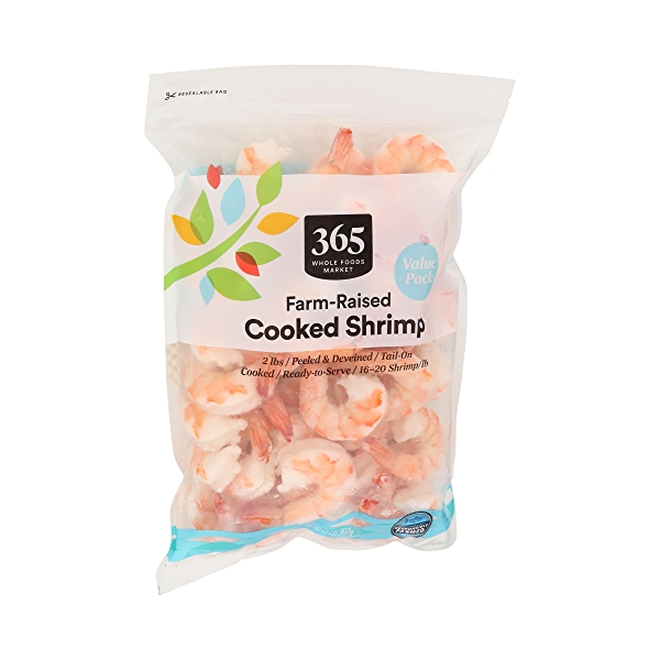Cp Shrimp Farm Raised Cooked Tail On 16 20 Fl Oz 2